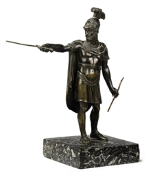 AN ITALIAN BRONZE MODEL OF A R