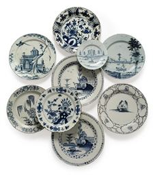 NINE ENGLISH AND DUTCH DELFT D