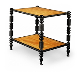 A SATINWOOD AND EBONY TWO-TIER