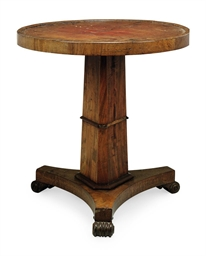 A REGENCY MAHOGANY CENTRE TABL