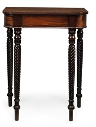 AN IRISH REGENCY MAHOGANY SIDE