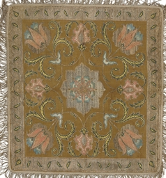 A SAFAVID SILK AND SILVER-THRE