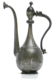 A SAFAVID TINNED COPPER EWER