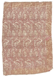 A SAFAVID SILK SAMITE PANEL