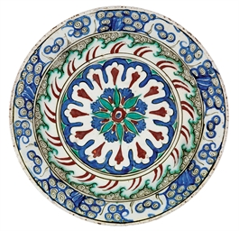 AN IZNIK POTTERY BOWL