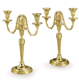 A PAIR OF GEORGE III ORMOLU TH