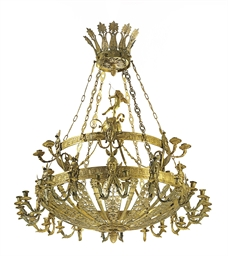 AN ORMOLU THIRTY-SIX LIGHT CHA