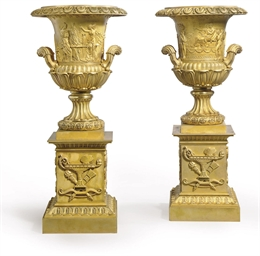 A PAIR OF CHARLES X ORMOLU TWO