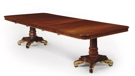 AN ENGLISH MAHOGANY AND PARCEL
