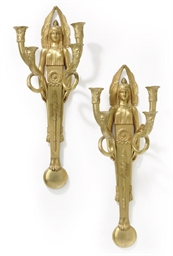 A PAIR OF FRENCH ORMOLU FOUR-B