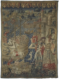 A FLEMISH EXOTIC TAPESTRY
