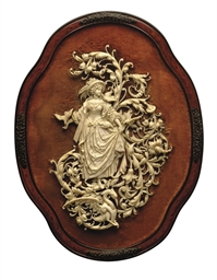 A FRENCH CARVED IVORY RELIEF