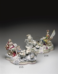 A MEISSEN MYTHOLOGICAL CHARIOT