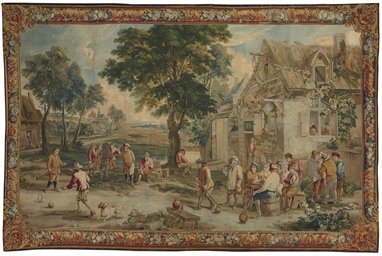 A FLEMISH PASTORAL TAPESTRY, A
