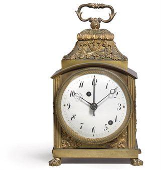 a swiss ormolu grande sonnerie pendule d 39 officier with alarm early 19th century european. Black Bedroom Furniture Sets. Home Design Ideas