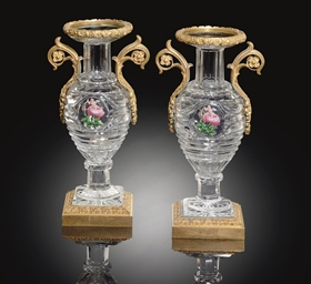 TWO ORMOLU-MOUNTED BACCARAT CU