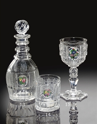 A BACCARAT CUT-GLASS DECANTER