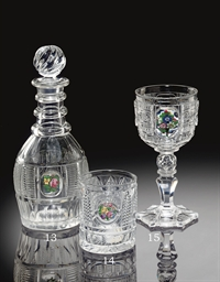 A BACCARAT CUT-GLASS TUMBLER