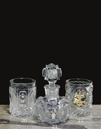 A BACCARAT CUT-GLASS COMMEMORA