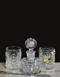 A BACCARAT ARMORIAL CUT-GLASS