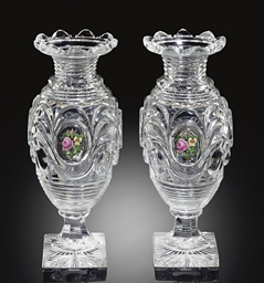 TWO BACCARAT CUT-GLASS VASES