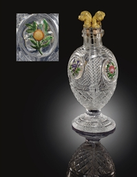 A BACCARAT CUT-GLASS DIVIDED S