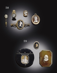 THREE PORTRAIT CAMEO ITEMS