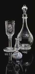 A BACCARAT GLASS DECANTER AND