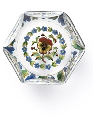 A BACCARAT FACETED GLASS GARLA