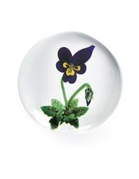 A CLICHY GLASS PANSY OR VIOLA