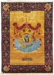 A SILK CENTRAL PERSIAN RUG