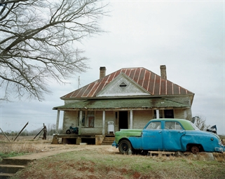 House and Car, near Akron, Ala
