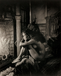 Nude by Fireplace, 1923