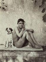 Boy and His Dog, Taormina, Italy, c. 1900