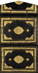 A SAFAVID GILT DECORATED BROWN