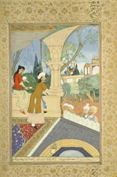 A QAJAR WATERCOLOUR, IRAN, CIR