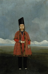 A QAJAR PORTAIT OF A YOUNG PRI