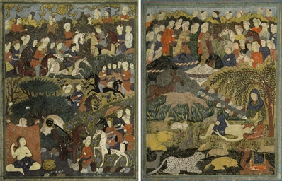 TWO SAFAVID MINIATURE PAINTING