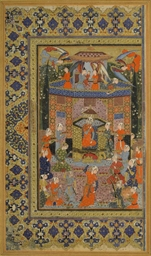 BILQIS ENTHRONED, SAFAVID SHIR