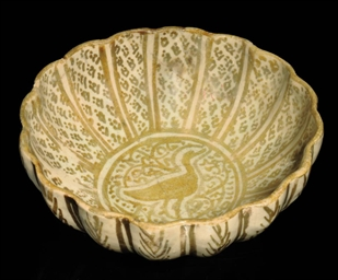A LOBED LUSTRE WARE BOWL, NORT