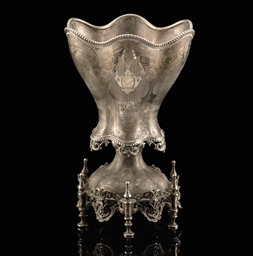 AN OTTOMAN SILVER SPOON HOLDER