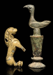 TWO BRONZE FINIALS, IRAN, 14TH