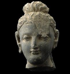 A GANDHARA GREY SCHIST BUDDHA