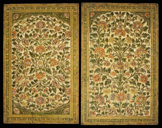 A PAIR OF KASHMIRI LACQUERED P