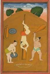 WRESTLERS FROM A NAT RAGA, POS
