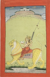 DURGA ON A TIGER, BIKANER, CIR