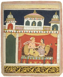 LOVERS IN A PAVILION, MALWA, C