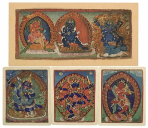 DHARMAPALAS, NEPAL, 17TH CENTU