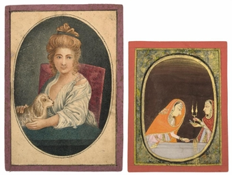 THREE SMALL PAINTINGS OF WOMEN