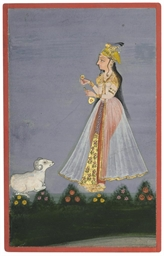 LADY AND A RAM, BIKANER, CIRCA